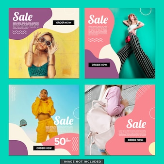 Plantilla de publicación de instagram de venta de moda