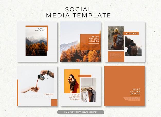 Plantilla de publicación de instagram de venta de otoño psd premium