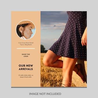 Plantilla de publicación de línea de tiempo de medios sociales de moda