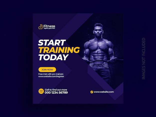 Plantilla de publicación de medios sociales fitness gym