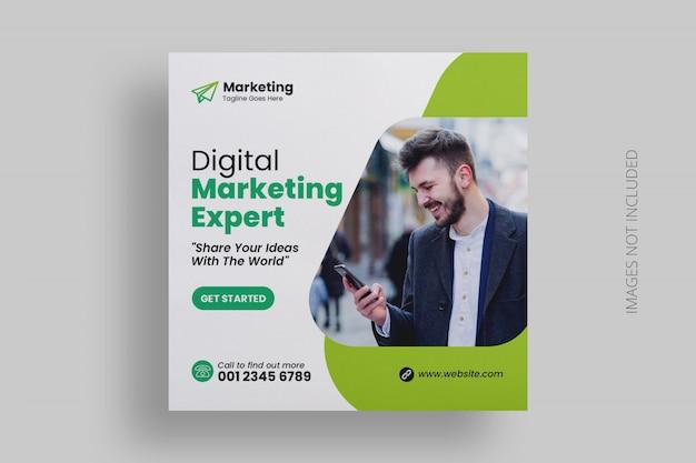 Plantilla de publicación de medios sociales de marketing digital