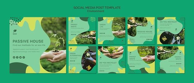 Plantilla de publicación de medios sociales de medio ambiente