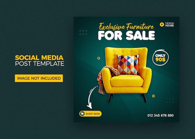 Plantilla de publicación de medios sociales de muebles