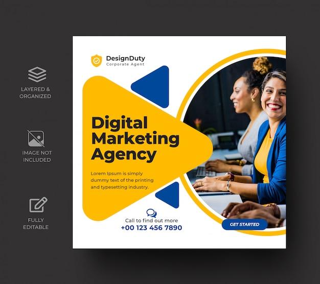 Plantilla de publicación de medios sociales de promoción de marketing de negocios digitales