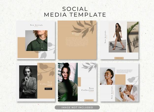 Plantilla de publicación de moda elegante venta instagram premium psd