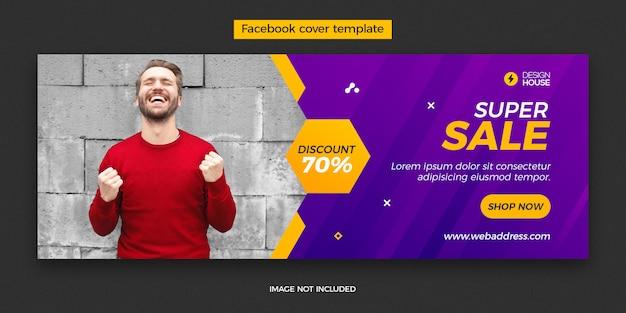 Plantilla de publicación de portada de super venta dinámica de facebook