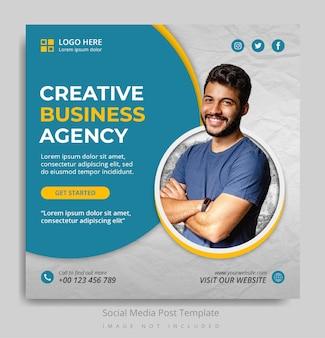 Plantilla de publicación de redes sociales de agencia de negocios creativos