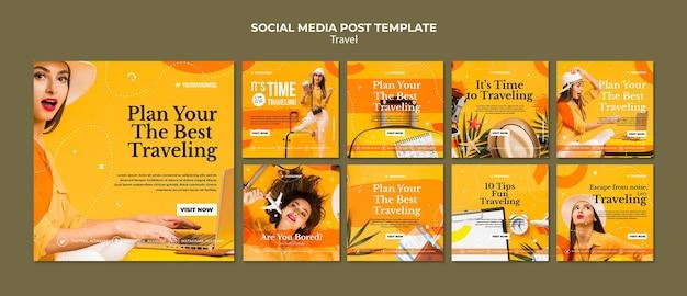 Plantilla de publicación de redes sociales de agencia de viajes