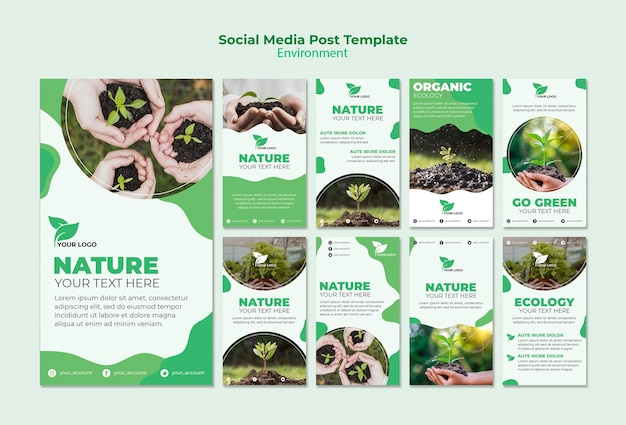 Plantilla de publicación de redes sociales ambientales
