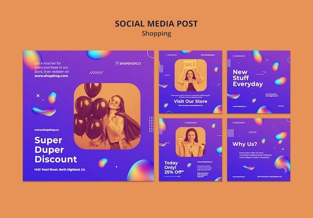 Plantilla de publicación de redes sociales de anuncios de compras