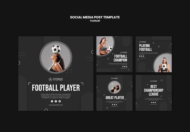 Plantilla de publicación de redes sociales de anuncios de fútbol