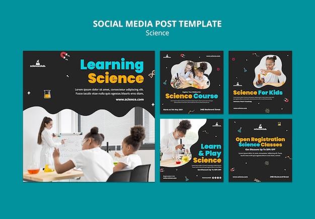 Plantilla de publicación de redes sociales de aprendizaje de ciencias
