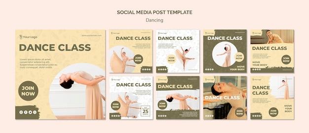 Plantilla de publicación de redes sociales bailando
