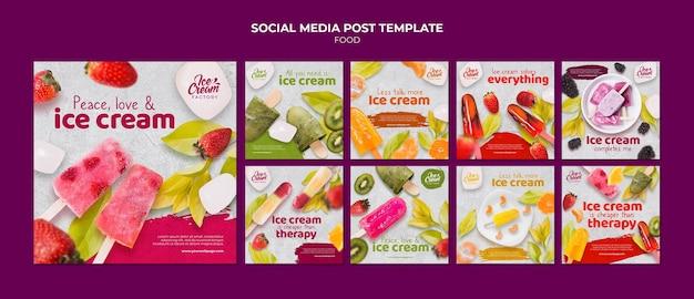 Plantilla de publicación de redes sociales de comida deliciosa