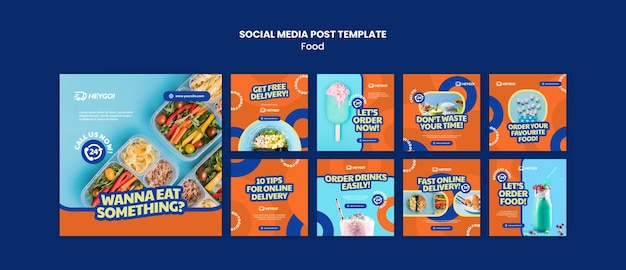Plantilla de publicación de redes sociales de comida sabrosa
