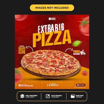 Plantilla de publicación de redes sociales de delicious pizza