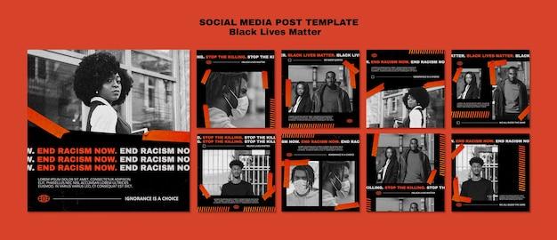 Plantilla de publicación de redes sociales importa vidas negras