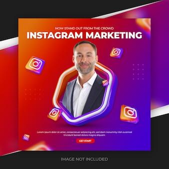 Plantilla de publicación de redes sociales de marketing de instagram