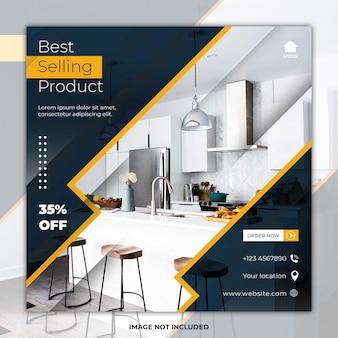 Plantilla de publicación de redes sociales de muebles más vendidos