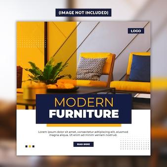 Plantilla de publicación de redes sociales de muebles modernos