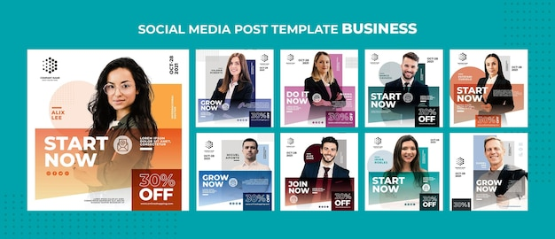 Plantilla de publicación de redes sociales de negocios.