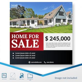 Plantilla de publicación de redes sociales de oferta de casas premium en venta