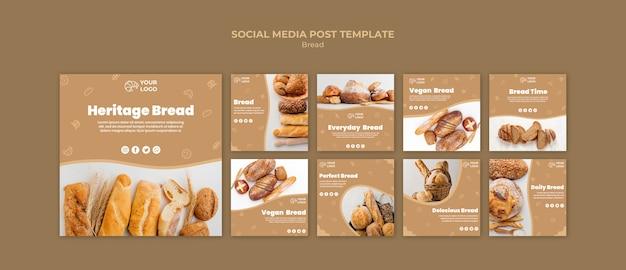 Plantilla de publicación de redes sociales de pan