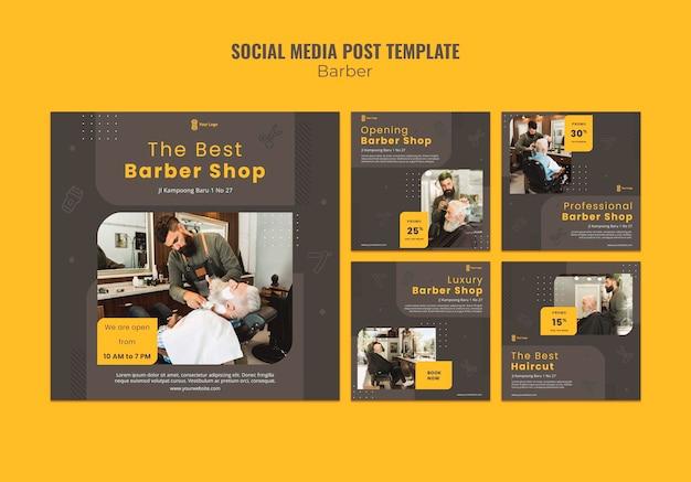 Plantilla de publicación de redes sociales de peluquería