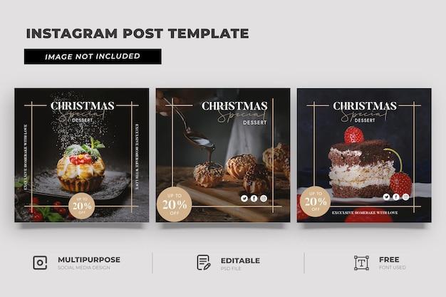 Plantilla de publicación de redes sociales de promoción de feliz navidad