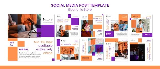 Plantilla de publicación de redes sociales de tienda electrónica