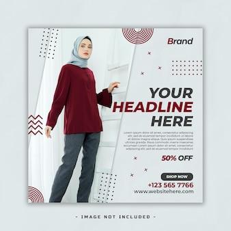 Plantilla de publicación de redes sociales de venta de moda premium psd