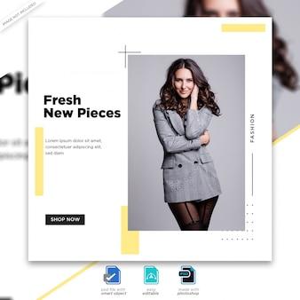 Plantilla de publicación de redes sociales de venta de moda psd premium