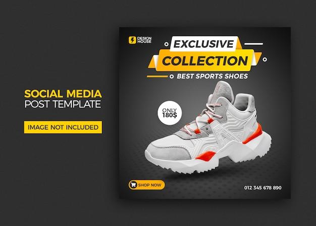 Plantilla de publicación de redes sociales de venta de zapatos