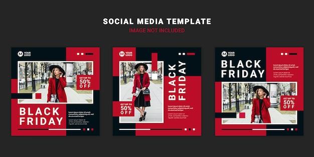 Plantilla de publicación de redes sociales de viernes negro