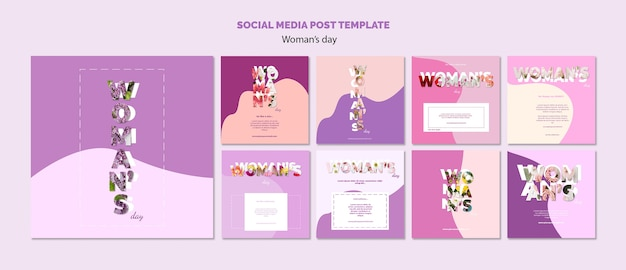 Plantilla de publicación en redes sociales