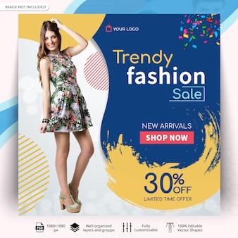 Plantilla de publicación de venta de moda en redes sociales