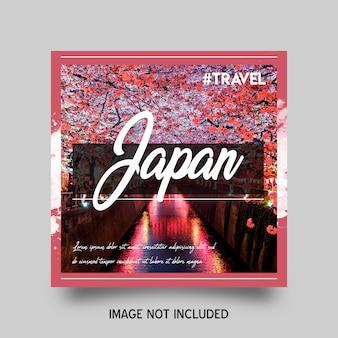 Plantilla de publicación de viajes en redes sociales
