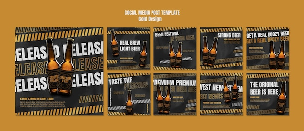 Plantilla de publicaciones de instagram del festival de la cerveza