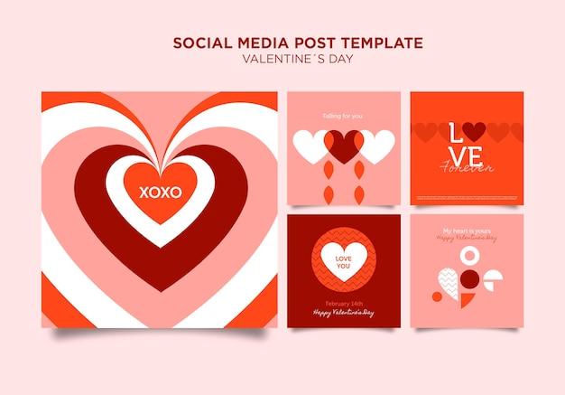 Plantilla de publicaciones de instagram de san valentín