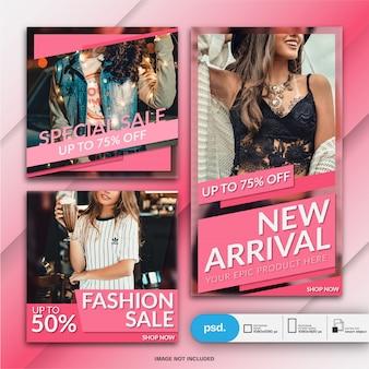 Plantilla de redes sociales de banner web de moda moderna