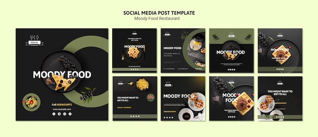Plantilla de redes sociales de comida cambiante