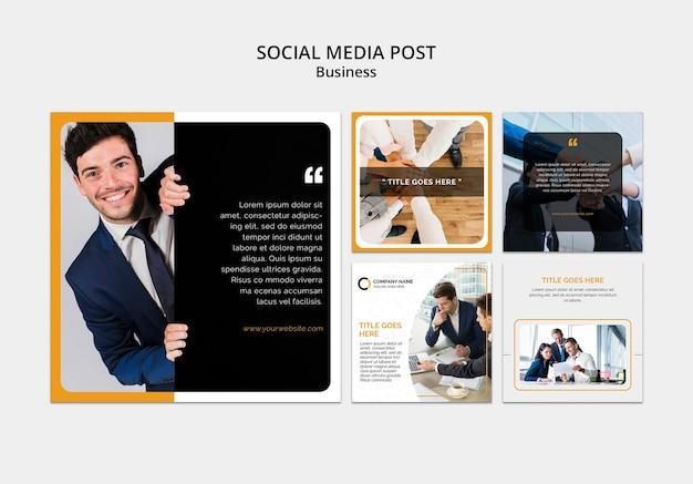 Plantilla de redes sociales empresariales