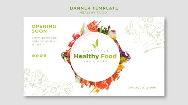 Plantilla de restaurante banner horizontal
