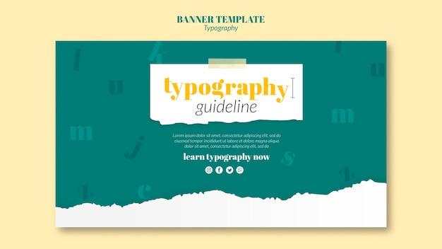 Plantilla de servicio de tipografía de banner