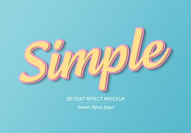 Plantilla simple de efecto de texto en negrita 3d