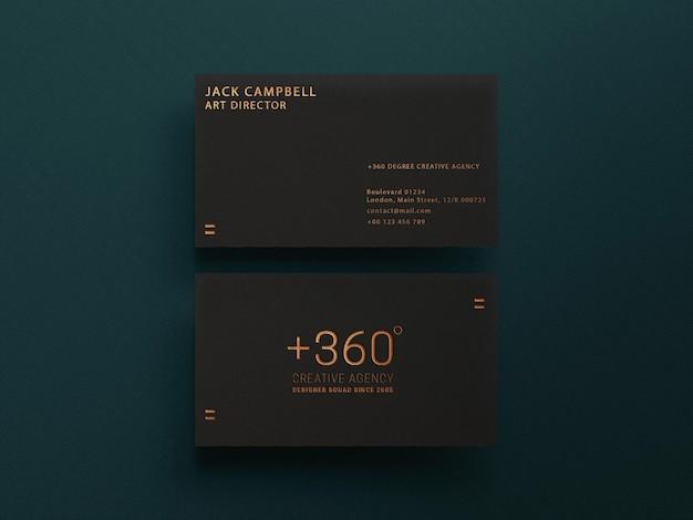 Plantilla simple de maqueta de tarjeta de visita oscura