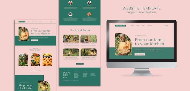 Plantilla de sitio web de apoyo a empresas locales