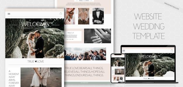 Plantilla de sitio web de la boda