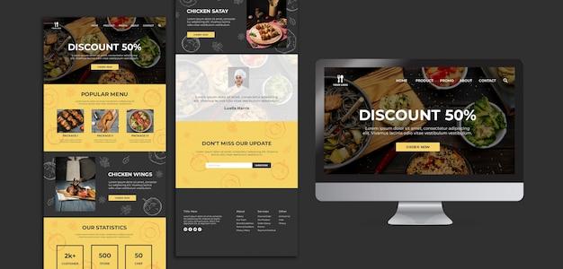 Plantilla de sitio web de concepto de brunch