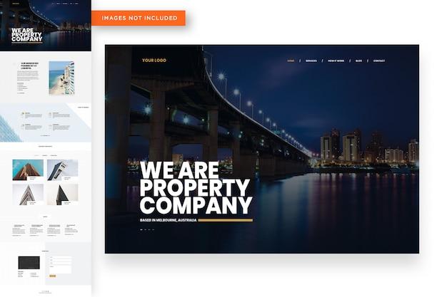 Plantilla de sitio web de construcción